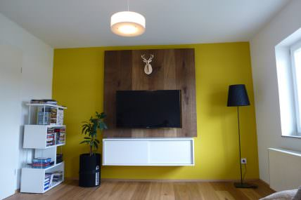 wohnzimmer-Farbe-Rückwand