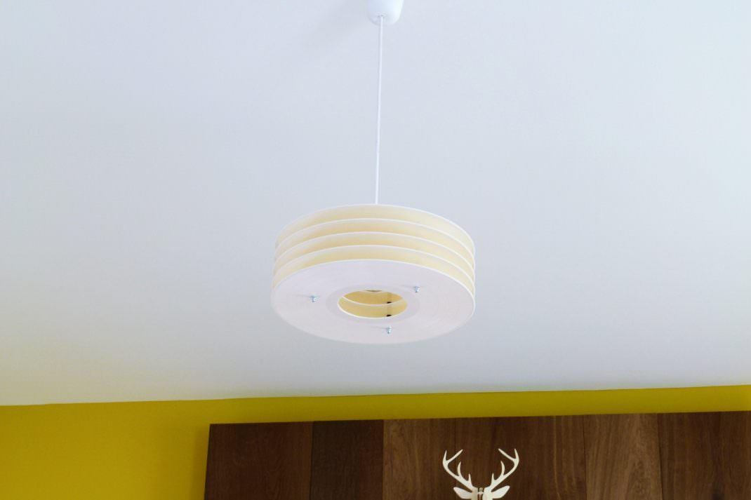 Lockengelöt-Schallplatten-Lampe