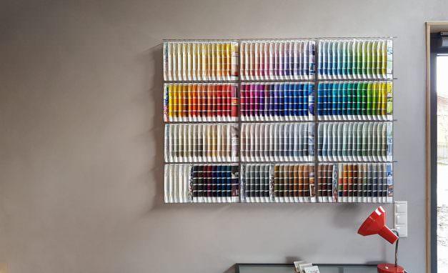 Farbe-Wand-Regenbogen-Muster