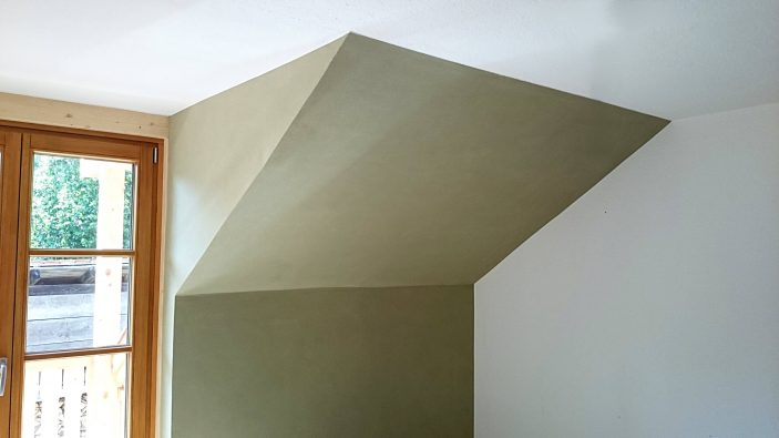 Lehm-Putz-Dachschräge