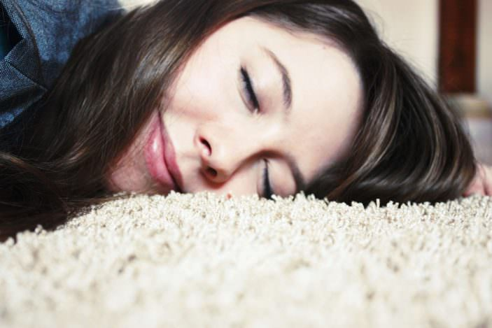 Teppich-Boden-flauschig