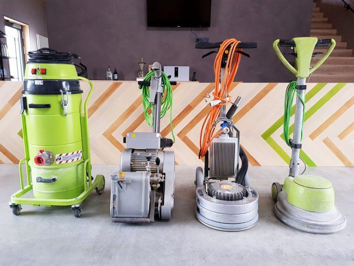 Schleifmaschinen-Absaugung-Boden